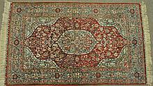 PERSIAN SILK RUG, 4.11 X 3.0