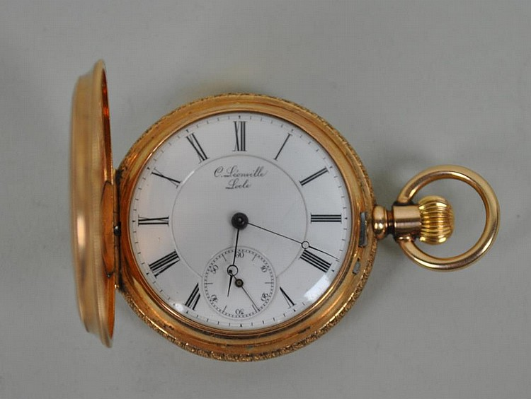 C LEONVILLE LOCLE LADIES GOLD POCKET WATCH