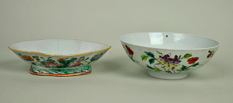 (2) CHINESE PORCELAIN FOOTED BOWLS
