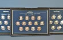 SET OF (39) STERLING SILVER PRESIDENTIAL MEDALS