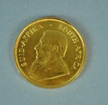 1982 SOUTH AFRICAN GOLD 1/2 KRUGERRAND
