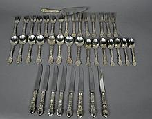 39-PIECE GORHAM MYTHOLOGIQUE STERLING FLATWARE SET