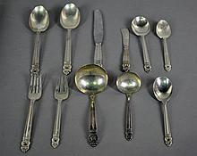 75-PIECE ROYAL DANISH STERLING FLATWARE SERVICE