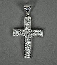 DIAMOND ENCRUSTED CROSS PENDANT