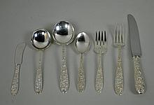 67-PIECE FLORAL STERLING FLATWARE SERVICE