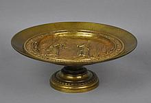 BRONZE TAZZA SIGNED C. PERRON