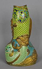 CHINESE CLOISONNE FISH VASE OF LARGE SIZE