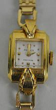 LADIES RETRO GOLD ROLEX PRECISION WRISTWATCH