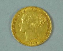1854 BRITISH GOLD VICTORIA SOVEREIGN