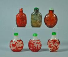 (6) CHINESE SNUFF BOTTLES