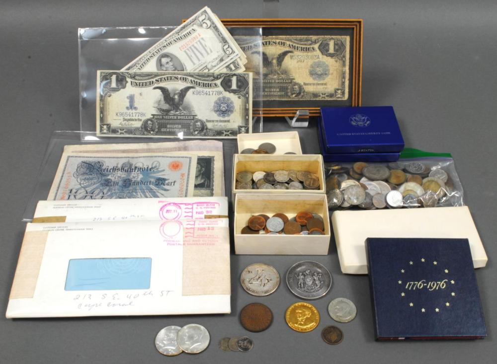DIVERSE US & INTERNATIONAL COIN & CURRENCY GROUP