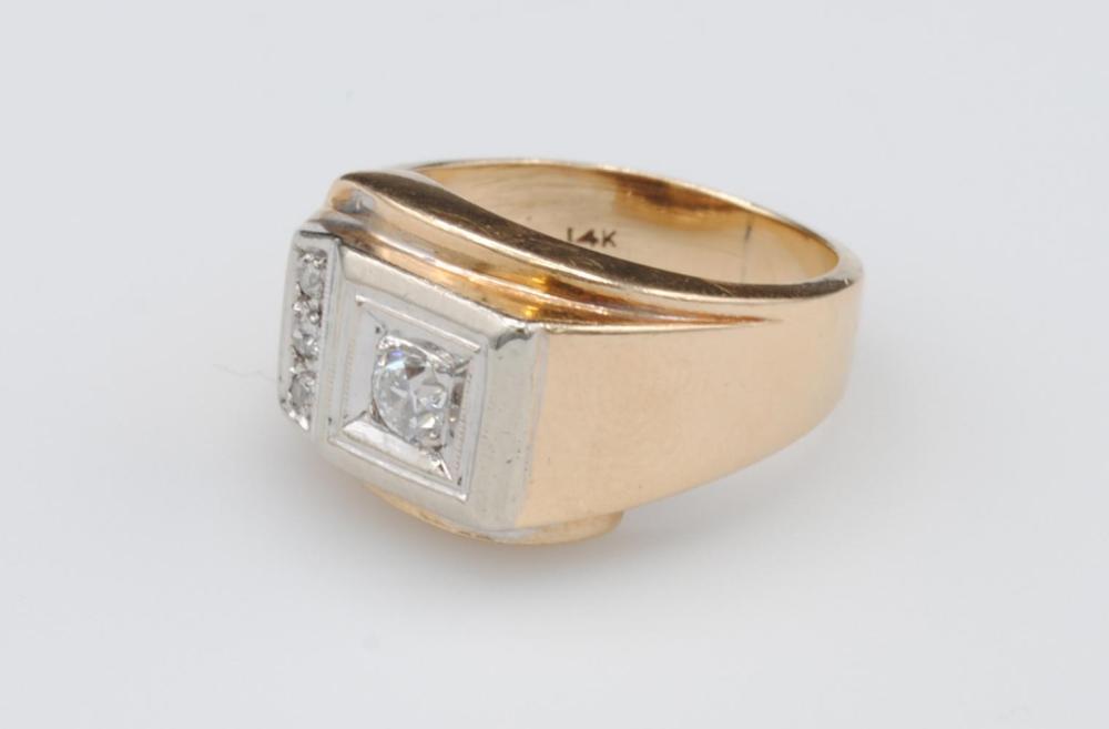 GENTS 14K DIAMOND RING