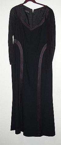 TWO BLACK ESCADA DRESSES including a floor length