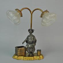 BRONZE ORIENTALIST NODDER LAMP