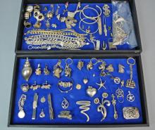 (75+) PIECE SILVER JEWELRY GROUP