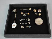 (13) GOLD & SILVER FRATERNAL JEWELRIES