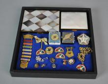 (2) CASES & FRATERNAL JEWELRY