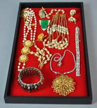 (11) PIECE SIGNED VINTAGE COSTUME JEWELRY GROUP