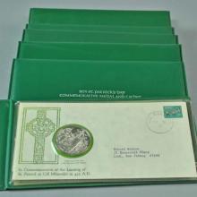 (7) FRANKLIN MINT ST. PATRICKS DAY SILVER MEDALS