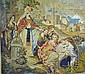 VICTORIAN NEEDLEWORK PANEL OF LARGE SIZE - MOSES