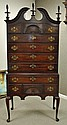 KINDEL MAHOGANY QUEEN ANNE-STYLE HIGHBOY