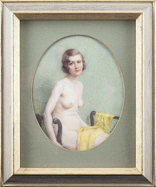 Revivalist Portrait Miniature, Mabel Welch