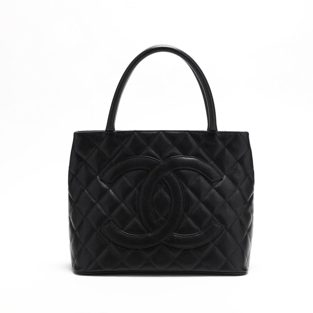 7658e73f9f8c Quilted Caviar Leather Medallion Tote, Chanel