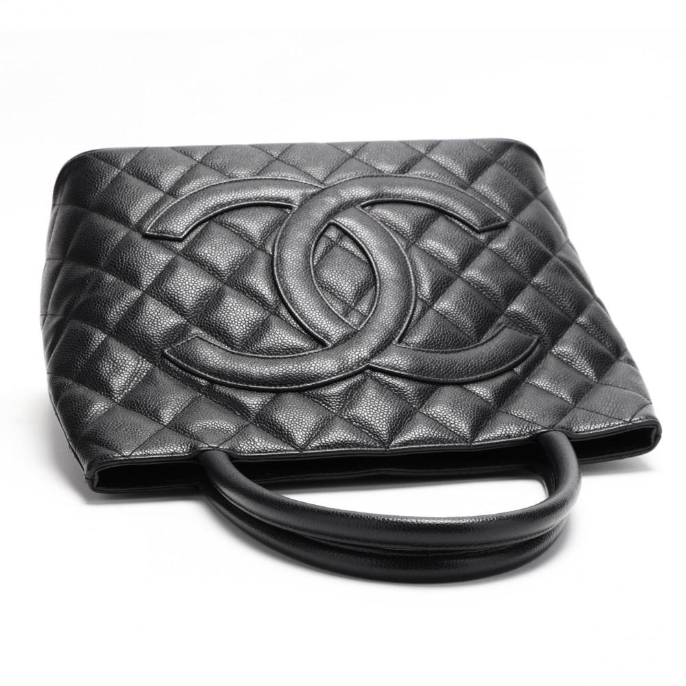 33714eb26aee Quilted Caviar Leather Medallion Tote, Chanel