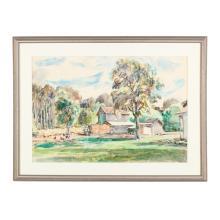 Sarah Blakeslee (NC/PA, 1912-2005), Farmyard