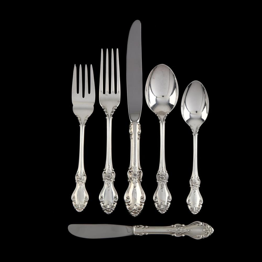 "1 Reed /& Barton Dimension Sterling 7"" Oval Dessert Soup Spoon NO mono"