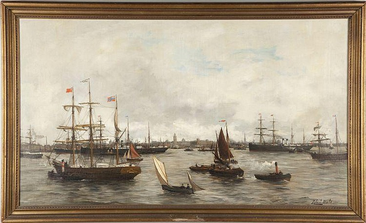 Robert Mols (Bel., 1848-1903), Antwerp Harbor