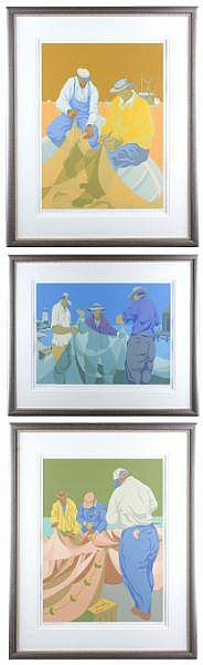 Claude Howell (NC, 1915-1997), Three Serigraphs