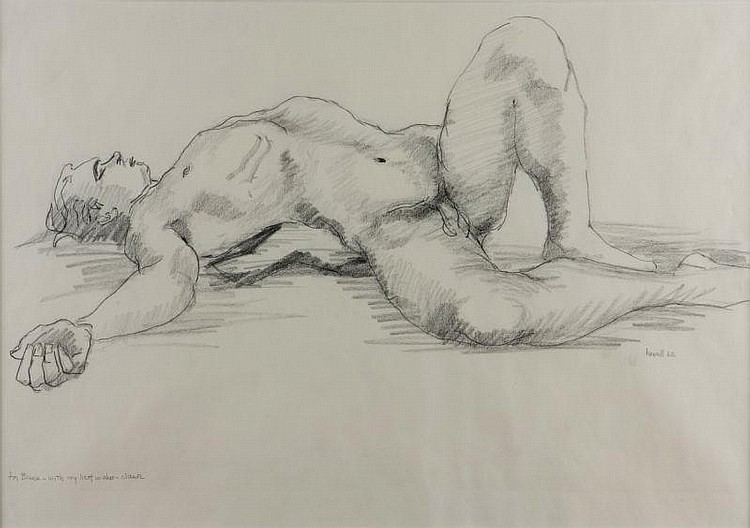 Claude Howell (NC, 1915-1997), Male Nude