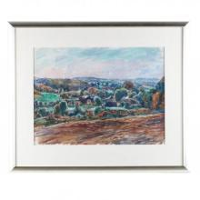 Sarah Blakeslee (NC, 1912-2005), Plowed Fields