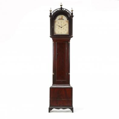 Federal Paint Decorated Tall Case Clock