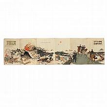 Six Panel Russo-Japanese Battle Print by Utagawa Kokunimasa (1874-1944)