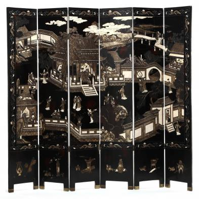 Six Panel Chinese Coromandel Screen