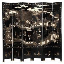 Six Panel Chinese Coromandel Screen