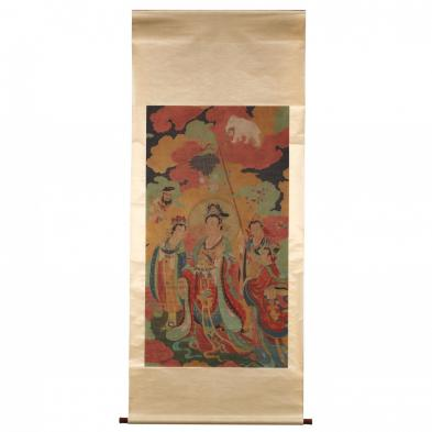Large Chinese Painting of Guanyin