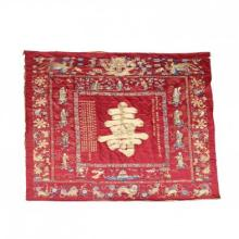 Grand Chinese Embroidered Silk and Gold Altar Wall Hanging