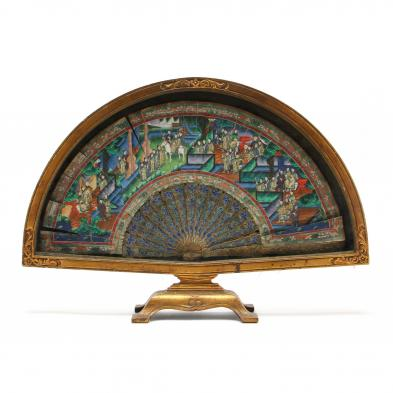 Antique Chinese Framed Fan