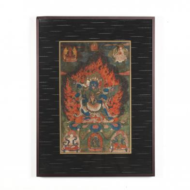 A Tibetan Thangka of Vajrakilaya