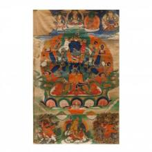 A Tibetan Thangka of Guhyasamaja