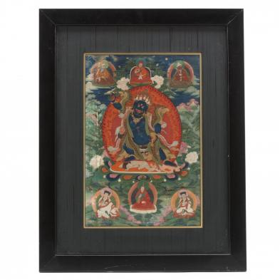 A Tibetan Thangka of Vajrapani