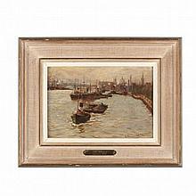 John Sanderson Wells (British, 1872-1955), <i>The Thames</i>