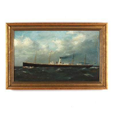 Antique Portrait of the Steamship Manhattan