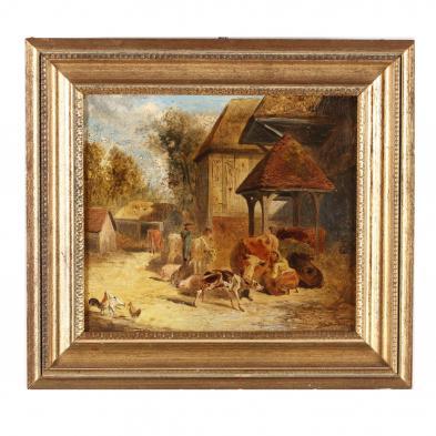 John Frederick Herring Sr. (British, 1795-1865), A Farmyard Scene