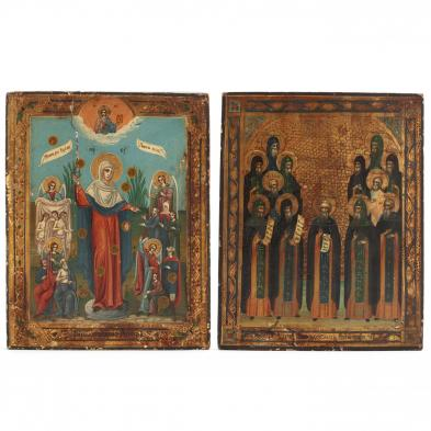 Two 19th Century Russian Icons