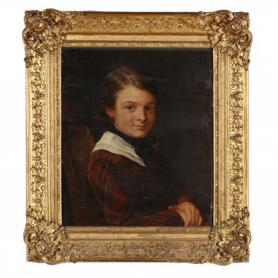 Francois Riss (France/Russia, 1804-1886), Portrait of a Young Boy