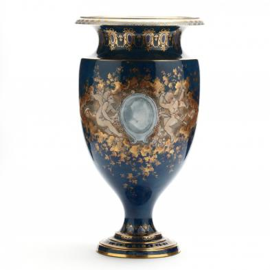 Gilt Decorated Sevres Style Porcelain Urn
